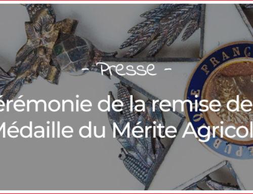 Cérémonie de la remise de la Médaille du Mérite Agricole