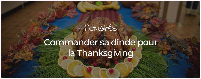 Commander sa dinde pour la Thanksgiving